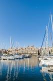 Dockyard Creek in Senglea, Malta Stock Photo