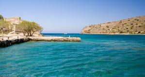 Dockyard em Spinilonga, Crete Imagem de Stock