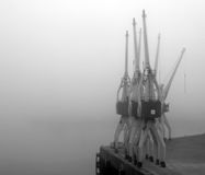 Dockyard in Mist Royalty Free Stock Images