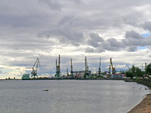 Dockyard in Petrozavodsk Royalty Free Stock Photo
