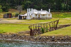 Dockyard slipway and Shipwright's house - Port Arthur Royalty Free Stock Image