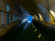 Dockyard subterrâneo velho fotografia de stock