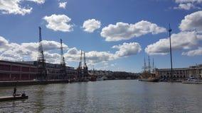 Dockyard żuraw Obrazy Stock