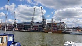 Dockyard żurawie fotografia stock