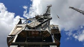 Dockyard żurawie Zdjęcia Royalty Free