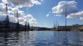 Dockyard żurawie Obrazy Royalty Free