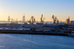 Dockyards of Cadiz Royalty Free Stock Images