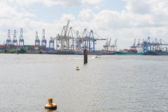 Doclands port Hamburg, Tyskland Royaltyfria Bilder