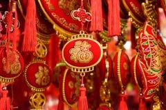 Docorations rouges chinois Images libres de droits