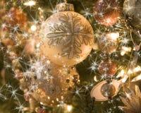Docrations van de kerstboom Stock Afbeelding
