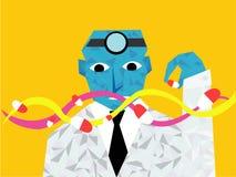 Docter e o projeto do ADN da medicina no diamante pattren Imagem de Stock Royalty Free