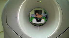 The Docter launches an MRI scannner CT stock footage