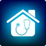 Docteur à la maison illustration stock