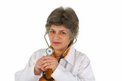 Docteur aîné de femme Photographie stock libre de droits