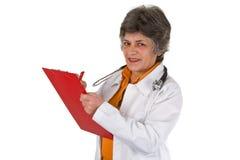 Docteur aîné de femme Photo stock
