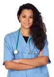Docteur attirant de brunette Images libres de droits