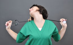 Docteur attirant de dame Photos libres de droits