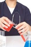 Docteur avec des tubes à essai Photo libre de droits