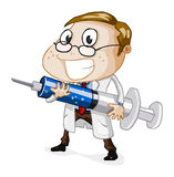 Docteur avec l'injecteur Photo stock