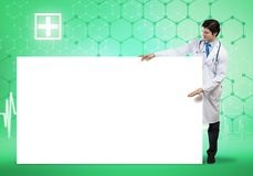 Docteur avec la banni?re images libres de droits