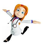 Docteur avec la pose fonctionnante illustration libre de droits