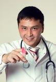 Docteur avec la seringue Photo stock
