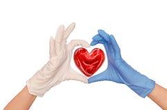 Docteur avec le coeur photos stock