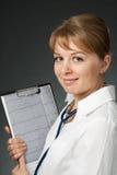 Docteur avec le stéthoscope et l'électrocardiogramme Images libres de droits