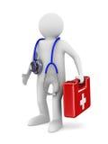 Docteur avec le stéthoscope sur le fond blanc illustration de vecteur