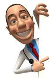 Docteur avec un signe blanc illustration de vecteur