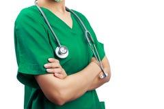 Docteur avec un stéthoscope Image stock