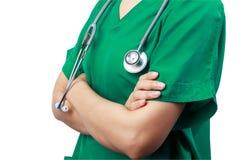 Docteur avec un stéthoscope Photographie stock