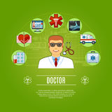 Docteur Concept Icons Set Photos stock