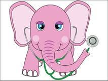 Docteur d'éléphant rose Image libre de droits