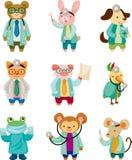 Docteur d'animal de dessin animé Photo libre de droits