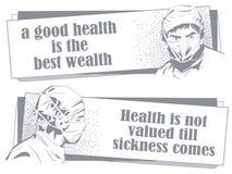 Docteur dans le masque chirurgical guillemet Illustration courante photo libre de droits