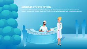 Docteur de consultation médicale d'illustration de bannière illustration stock