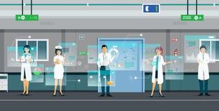 Docteur de Digital illustration stock