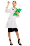 Docteur de femme dans le manteau de laboratoire avec le stéthoscope médical photos libres de droits