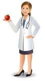 Docteur de jeune femme illustration stock