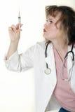 Docteur de Madame regardant le pointeau Photo libre de droits