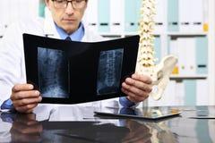 Docteur de radiologue vérifiant le rayon X, soins de santé, concept médical photo stock