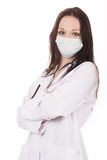 Docteur debout de femme avec le stéthoscope photographie stock libre de droits