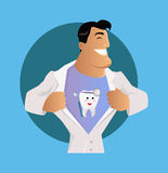 Docteur Dentist Character Design Flat Illustration Stock