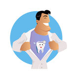 Docteur Dentist Character Design Flat Illustration de Vecteur