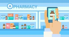Docteur en ligne Healthcare de consultation médicale de pharmacie Photo libre de droits