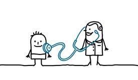 Docteur et enfant Image libre de droits