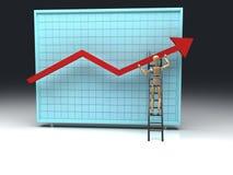 Docteur et graphique de réussite Photo stock