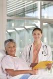 Docteur et patient Images libres de droits
