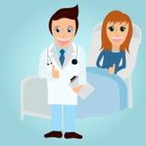 Docteur et patient illustration stock